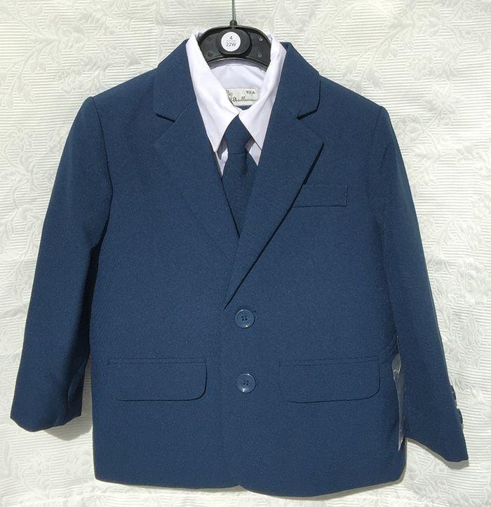Kék gyerek öltöny OT196 : Most divatos acélkék gyerek öltöny minden méretben