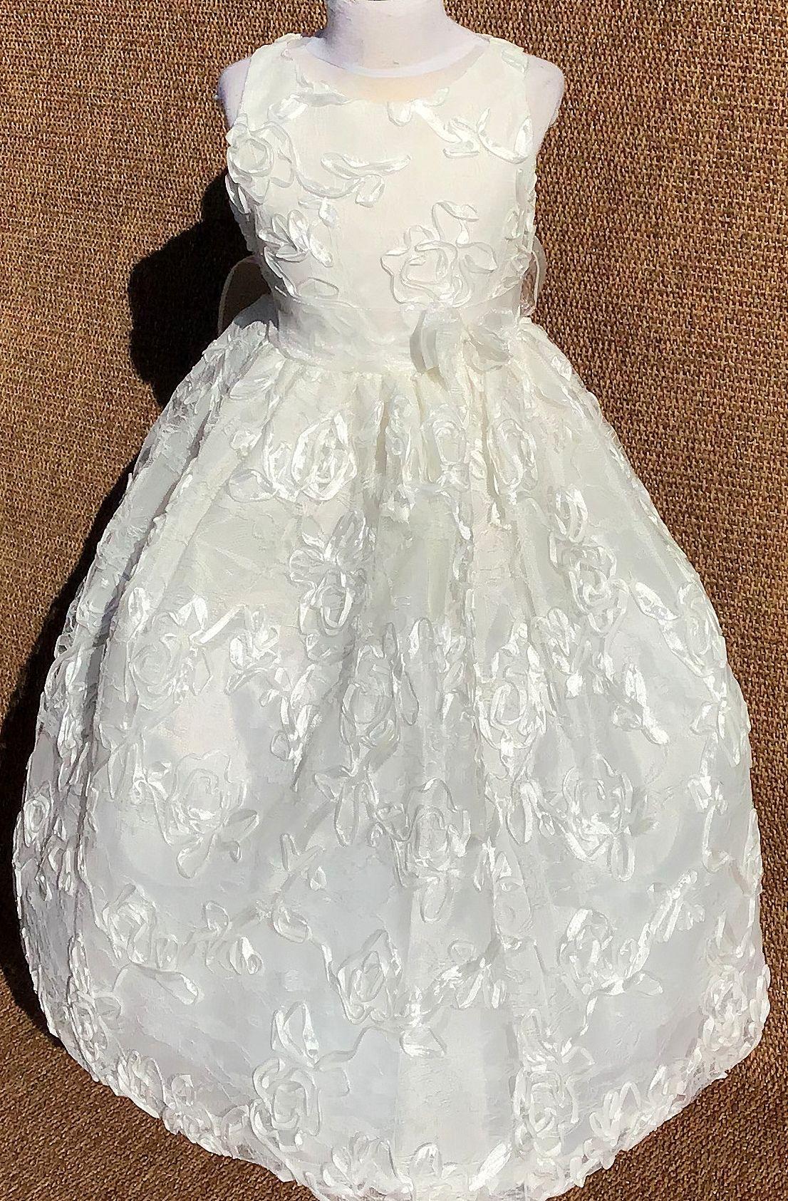 Koszorúslány ruha KO 009 : virágos koszoruslány ruha