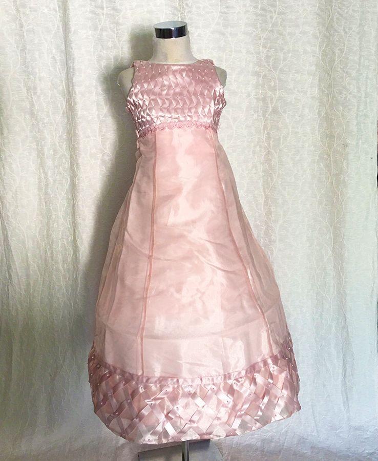 KO 035 19800.- Ft : rózsaszín hosszú koszorúslány ruha