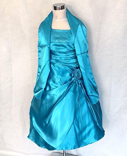 KO 059 12980.- Ft : kék, taft -lamé ,elegáns alkalmi ruha sállal vagy színes szallaggal