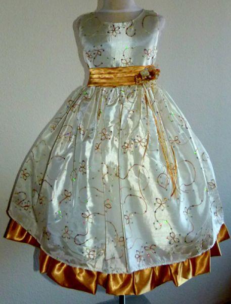 KO 007 18980.-Ft : arany hímzéses elegáns fellépő , alkalmi , koszorúslány ruha